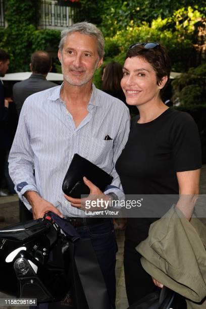 Antoine de Caunes and Daphné Roulier attend the Millesime Champagne Rose 2008 By Maison Piper Heidsieck : Launch Party At Pavillon De La Reine Place...