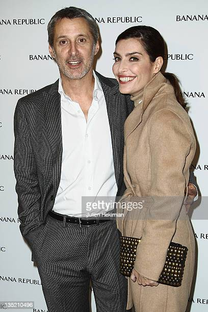 Antoine de Caunes and Daphne Roulier attend the Banana Republic ChampsElysees flagship opening on December 7 2011 in Paris France