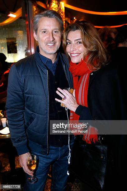 Antoine de Caunes and Daphne Roulier attend the Cocktail for the Cinema Award 2015 of Foundation Diane Lucien Barriere given to the movie 'Les...