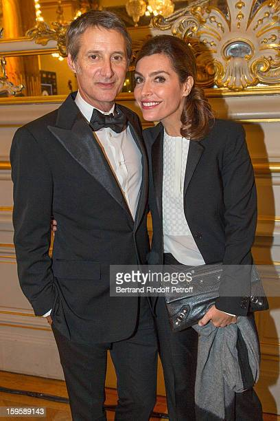 Antoine de Caunes and Daphne Roulier attend the GQ Men of the year awards 2012 at Musee d'Orsay on January 16 2013 in Paris France