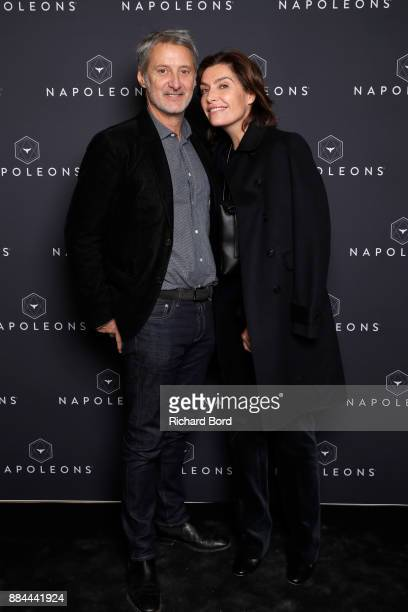 Antoine de Caunes and Daphne Roulier attend the Introductory Session To The 7th Summit Of Les Napoleons at Maison de la Radio on December 2 2017 in...
