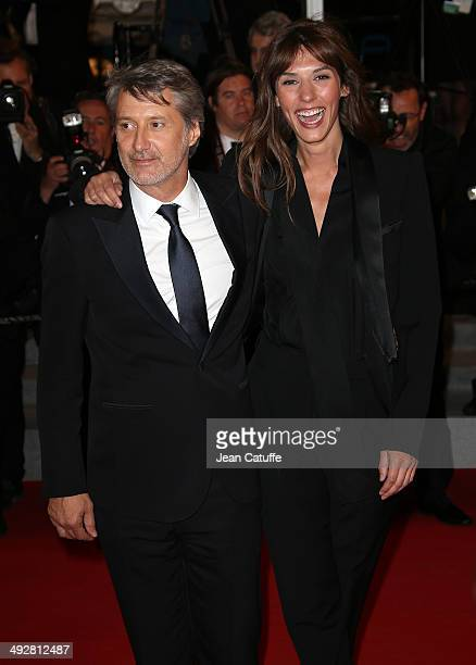 Antoine de Caunes and Doria Tillier attend 'L'Homme Qu'On Aimait Trop' premiere during the 67th Annual Cannes Film Festival on May 21 2014 in Cannes...