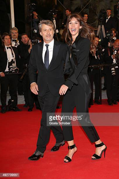 Antoine de Caunes and Doria Tillier attend the 'L'Homme Qu'On Aimait Trop' premiere during the 67th Annual Cannes Film Festival on May 21 2014 in...