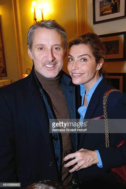 Antoine de Caunes and his companion Daphne Roulier attend the FrançoisXavier Demaison show 'Demaison S'Evade' Premiere at Theatre Edouard VII on...