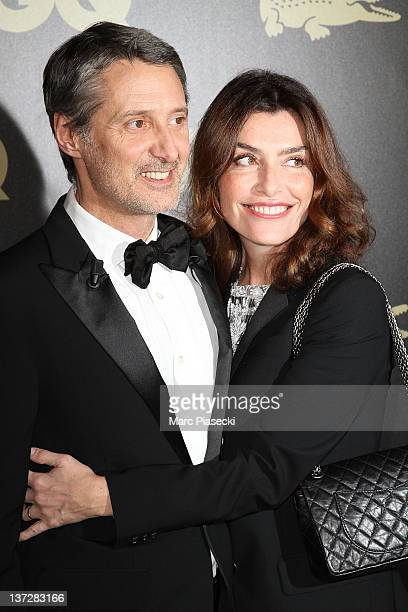 Antoine de Caunes and his wife Daphne Roulier attend the 'GQ Man Of The Year 2011' photocall at Hotel Ritz on January 18 2012 in Paris France