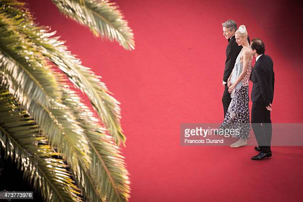 Antoine de Caunes Aymeline Valade and Stephane de Groodt attend the Premiere of Carol during the 68th annual Cannes Film Festival on May 17 2015 in...