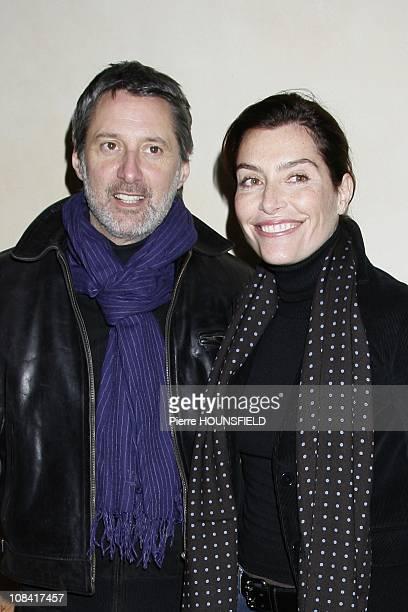 Antoine de Caunes Daphne Roulier in Paris France on December 08 2008