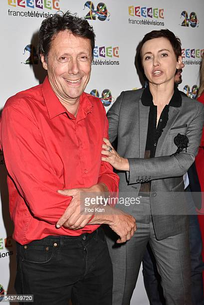 Antoine de Maximy and Sophie Jovillard attend France Television presents its programs 20162017 at France Television studios on June 29 2016 in Paris...