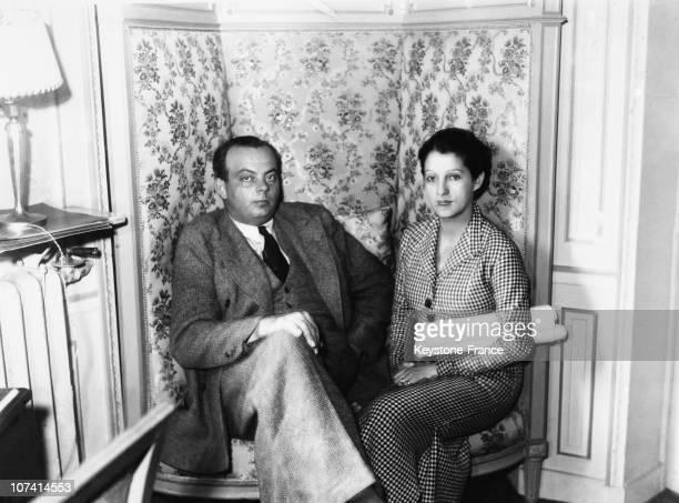 Antoine De Saint Exupery And His Wife In Paris