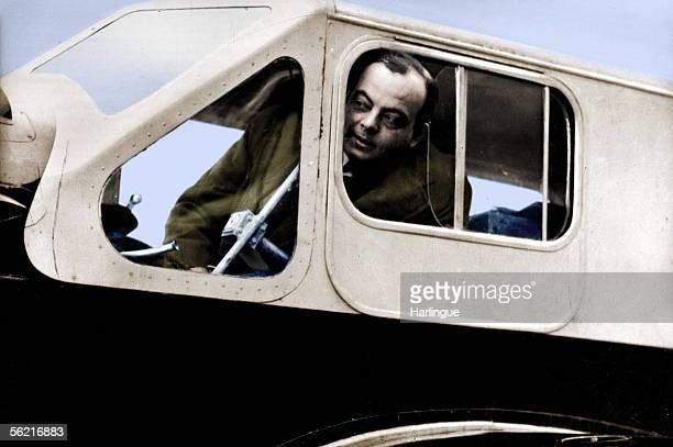 Antoine de SaintExupery airman and French writer Colourized photo