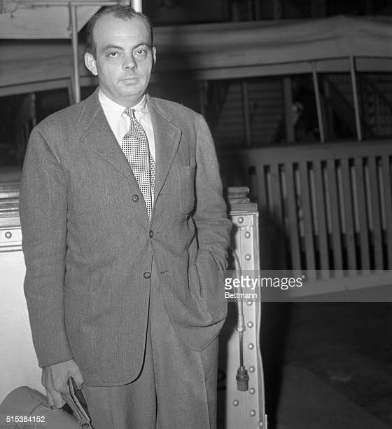 Antoine de SaintExupery aviator and auther shown on the SS Ile de France before sailing for Europe en route to his home in Paris He is the author of...