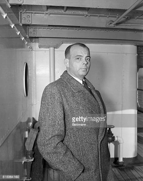 Antoine de SaintExupery French author and aviator wha was a captain in the French army arrives on the Liner Siboney which brought 343 passengers from...