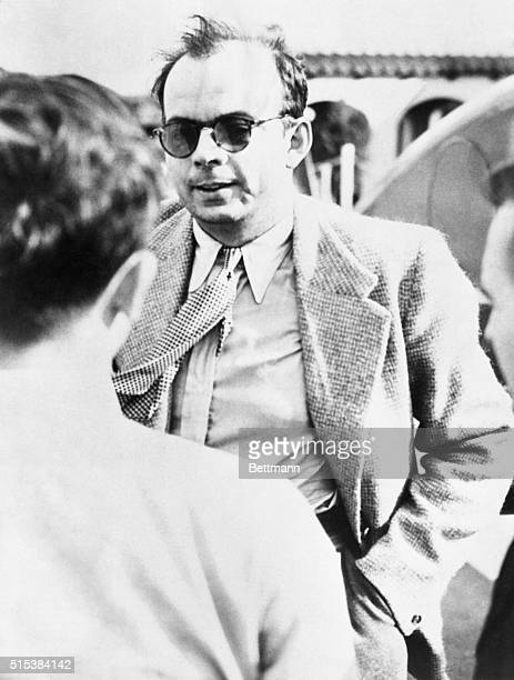 Antoine de SaintExupery well known writer and flyer as he arrived in New York on the SS Ile de France