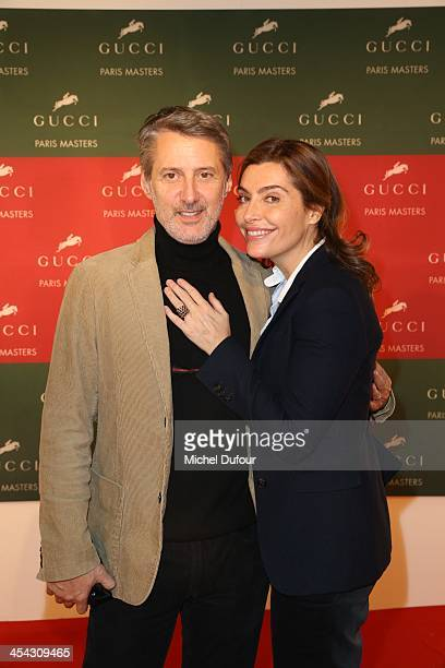 Antoine Decaunes and Daphne Roulier attend the Gucci Paris Masters 2013 Day 4 at Paris Nord Villepinte on December 8 2013 in Paris France