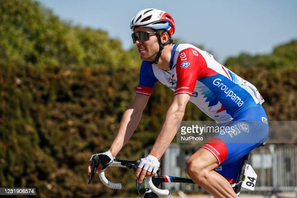 Antoine Duchesne from Canada Groupama - FDJ during the 100th Volta Ciclista a Catalunya 2021, Stage 3 from Canal Olimpic de Barcelona to Valter 2000....