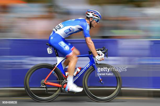 Antoine Duchesne of Canada and FDJ competes during stage six of the 2018 Tour Down Under on January 21 2018 in Adelaide Australia