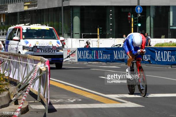Antoine Duchesne of Canada and Team Groupama - FDJ at Giro d'Italia 2021 cycling race following the 21st and last stage on May 30, 2021 in Milan. In...