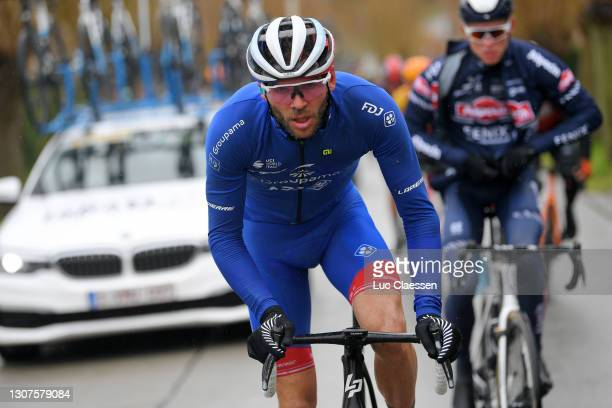 Antoine Duchesne of Canada and Team Groupama - FDJ during the 75th Nokere Koerse - Danilith Classic 2021, Men's Elite a 195,5km race from Deinze to...