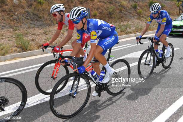 Antoine Duchesne of Canada and Team Groupama FDJ / Enric Mas of Spain and Team QuickStep Floors Best Young Rider / Pieter Serry of Belgium and Team...
