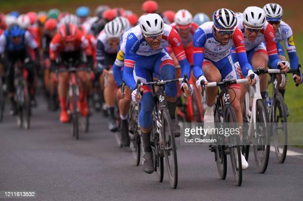 Antoine Duchesne of Canada and Team Groupama - FDJ / Thibaut Pinot of France and Team Groupama - FDJ / Stefan Küng of Switzerland and Team Groupama -...