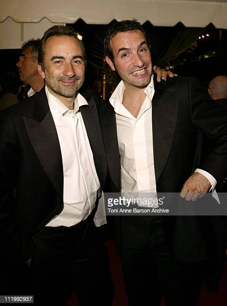 Antoine Dulery and Jean Dujardin during 2003 Cannes Film Festival Toutes Les Filles sont Folles Party at Don Juan Yacht in Cannes France