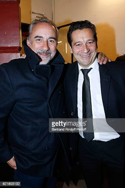 Antoine Dulery and Laurent Gerra attend LouisMichel Colla the Director of the Theatre de la Gaite Montparnasse Celebrates his 60th Anniversary at...