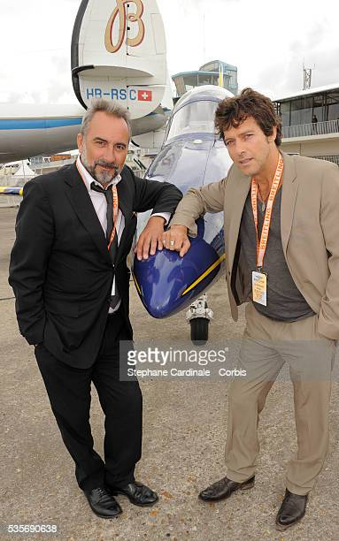 Antoine Dulery and Laurent Hennequin attend the Breitling lunch during the 48th Paris Air Show held at Paris Le Bourget
