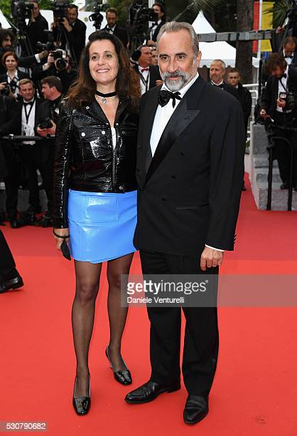 Antoine Dulery and Pascale Pouzadoux attend the 'Cafe Society' premiere and the Opening Night Gala during the 69th annual Cannes Film Festival at the...