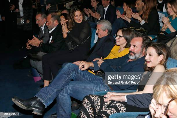 Antoine Dulery Eric DupondMoretti Nadia Fares Claude Lelouch Nathalie Pechalat Jean Dujardin and Elsa Zylberstein attend the 'Chacun sa vie' Paris...