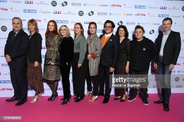 """Antoine Dulery, guest, Audrey Fleurot, guest, guest, Julie De bona, Aurelien Wiik and guests attend the 27th """"Trophees Du Film Francais"""" photocall At..."""