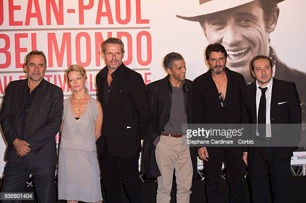Antoine Dulery Laure Marsac Lambert Wilson Sami Bouajila Pascal Elbe and Patrick Timsit attend the Tribute to Jean Paul Belmondo and Opening Ceremony...