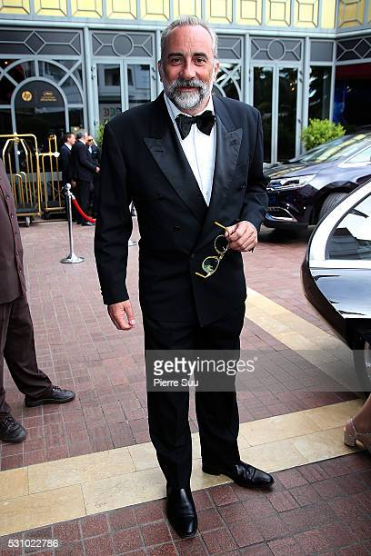 Antoine Dulery leaves the Majestic Hotel on May 12 2016 in Cannes