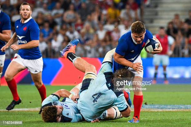 Antoine Dupont of France during the test match between France and Scotland on August 17 2019 in Nice France