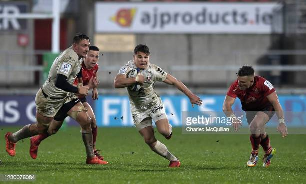 Antoine Dupont of Toulouse during the Heineken Cup Pool B game between Ulster and Toulouse at Kingspan Stadium on December 11, 2020 in Belfast,...