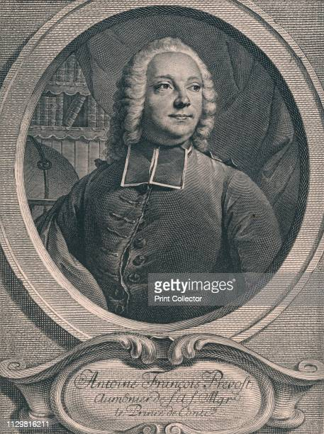 Antoine Francois Prevost' 1745 Portrait of French priest and translator Antoine François Prévost almoner to the Prince de Conti and author of 'Manon...