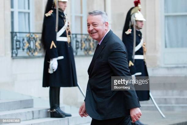 Antoine Frerot chief executive officer of Veolia SA arrives at the Elysee Palace ahead of a dinner with Mohammed bin Salman Saudi Arabia's crown...