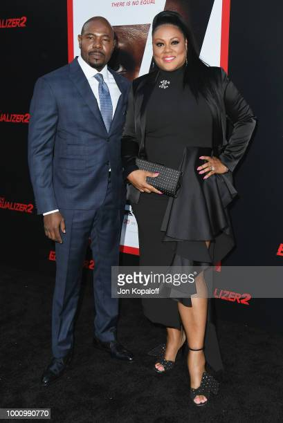Antoine Fuqua and Lela Rochon attend premiere of Columbia Picture's Equalizer 2 at TCL Chinese Theatre on July 17 2018 in Hollywood California