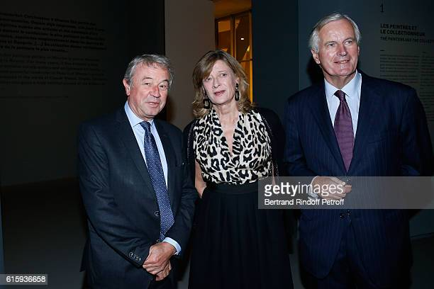 Antoine Gallimard Michel Barnier and his wife Isabelle attend the Icones de l'Art Moderne La Collection Chtchoukine Cocktail at Fondation Louis...