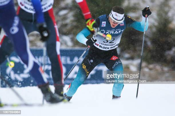 Antoine Gerard of France competes during the FIS Nordic World Cup Nordic Combined HS140/10km on December 2 2018 in Lillehammer Norway