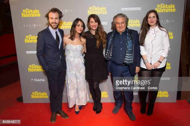 Antoine Gouy Alice Belaidi Audrey Dana Christian Clavier and Josephine Drai attend the Si J'Etais Un Homme Paris Premiere at Cinema Gaumont Opera on...