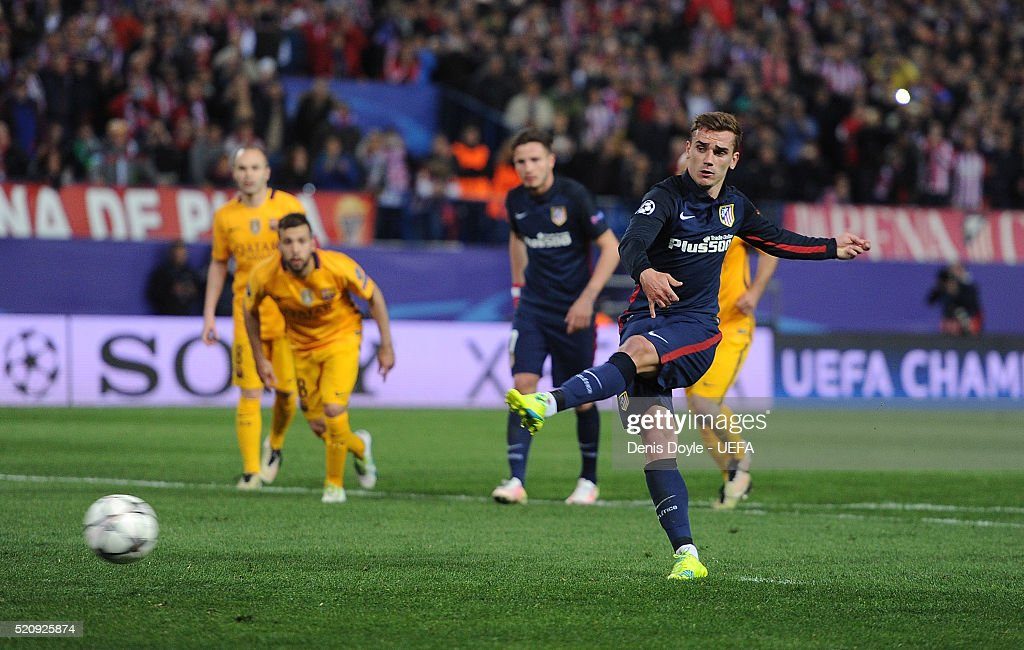 Club Atletico de Madrid v FC Barcelona - UEFA Champions League Quarter Final: Second Leg : News Photo