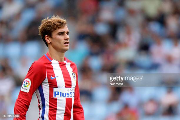 Antoine Griezman during the Spanish league football match Real Club Celta de Vigo vs Club Atlético de Madrid at estadio Municipal de Balaidos on...