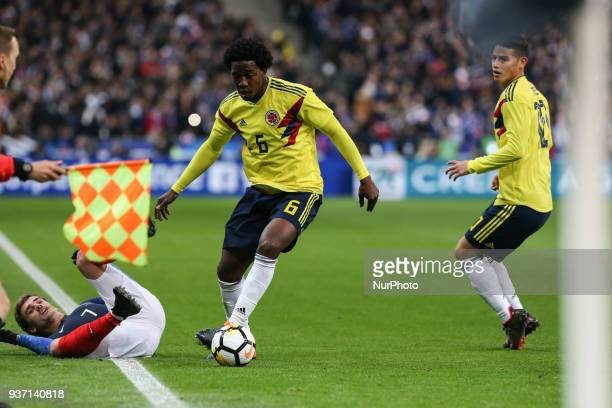 Antoine Griezmann 7 Carlos Sanchez 6 during the friendly football match between France and Colombia at the Stade de France in SaintDenis on the...