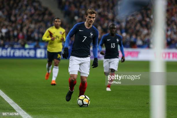Antoine Griezmann 7 during the friendly football match between France and Colombia at the Stade de France in SaintDenis on the outskirts of Paris on...