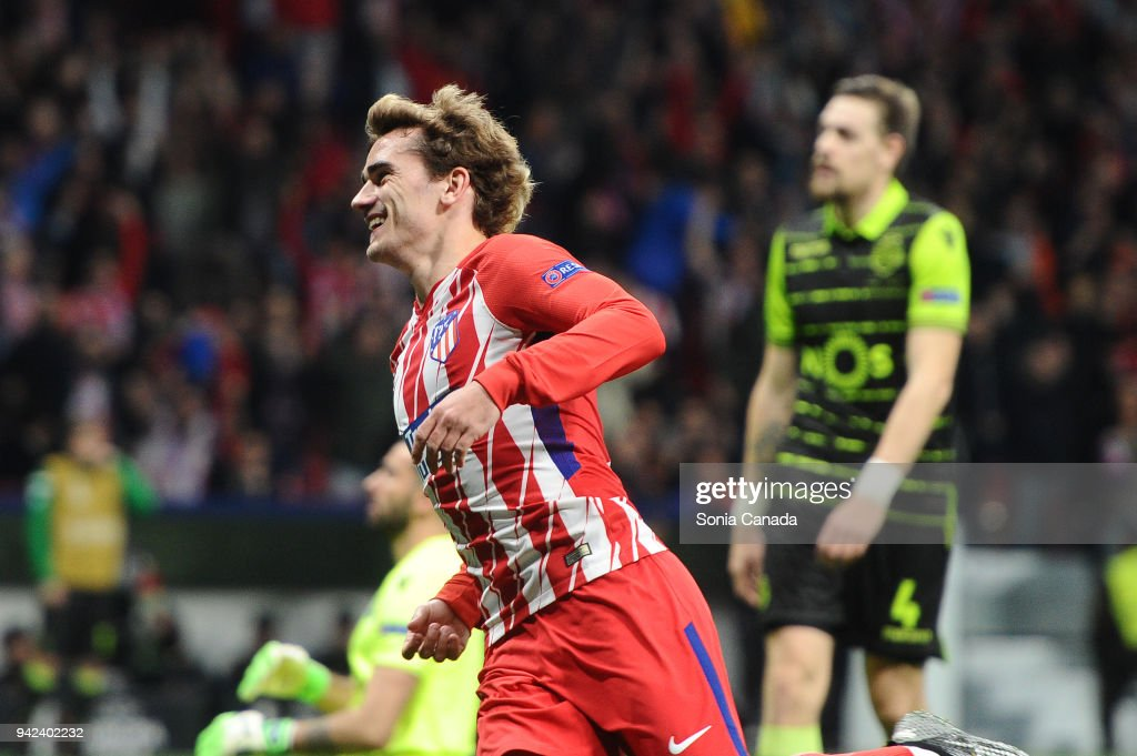Atletico Madrid v Sporting CP - UEFA Europa League Quarter Final Leg One : News Photo