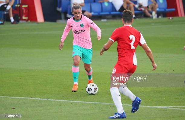Antoine Griezmann and Bernardo during the friendly match between FC Barcelona and Girona FC played at the Johan Cruyff Stadium on 16th September 2020...