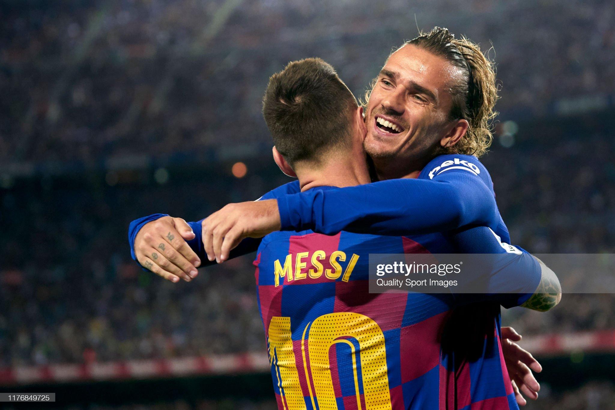 صور مباراة : برشلونة - فياريال 2-1 ( 24-09-2019 )  Antoine-griezmann-and-lionel-messi-of-fc-barcelona-celebrating-their-picture-id1176849725?s=2048x2048
