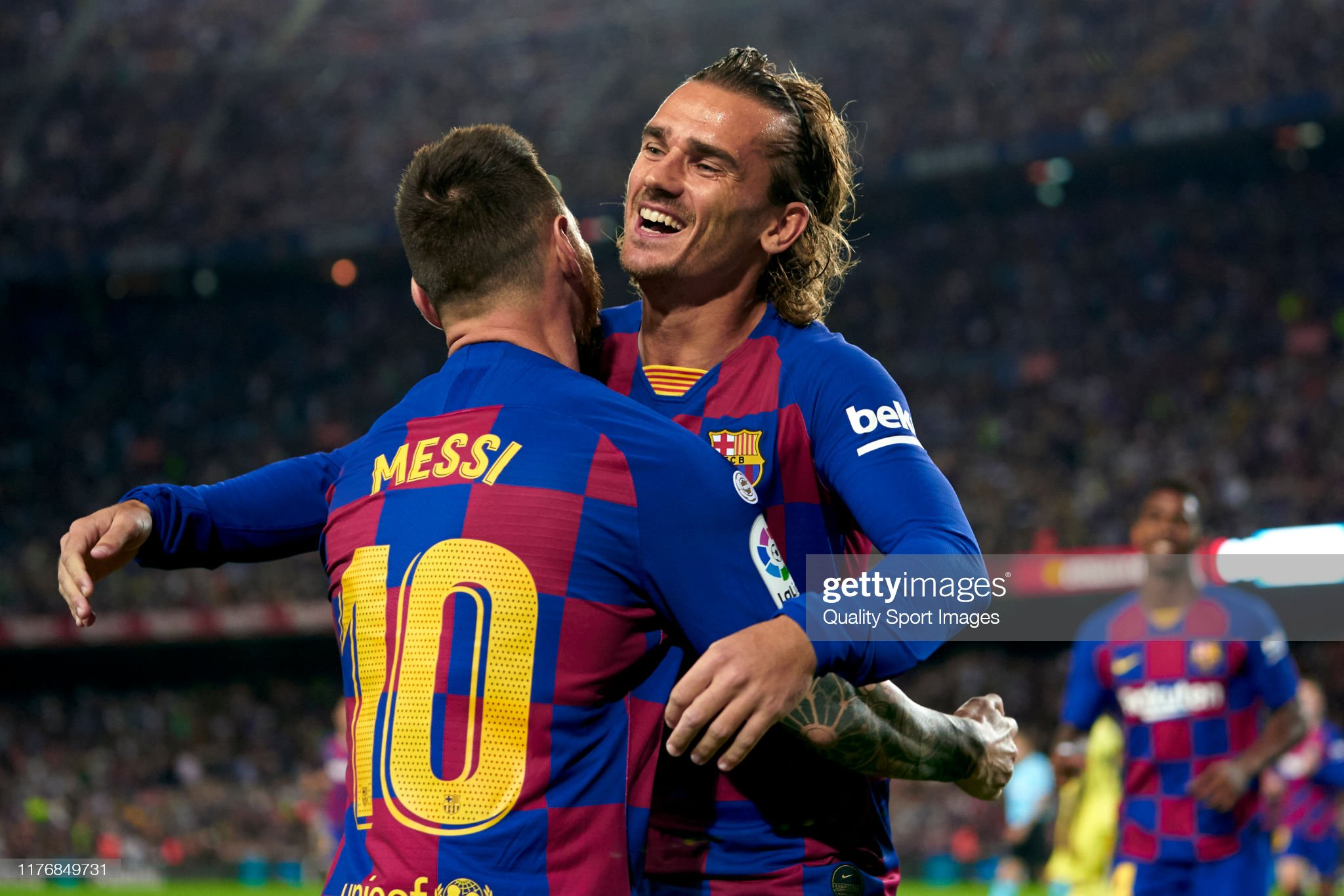 صور مباراة : برشلونة - فياريال 2-1 ( 24-09-2019 )  Antoine-griezmann-and-lionel-messi-of-fc-barcelona-celebrating-their-picture-id1176849731?s=2048x2048