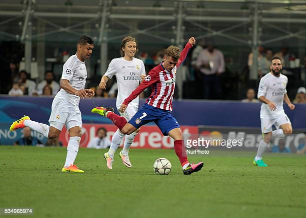 Antoine Griezmann during the Champions League final between Real Madrid CF and Club Atletico de Madrid at the Giuseppe Meazza Stafium of Milan on may...