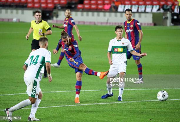 Antoine Griezmann during the Joan Gamper Trophy match between FC Barcelona and Elche CF played at the Camp Nou Stadium on 19th September 2020 in...